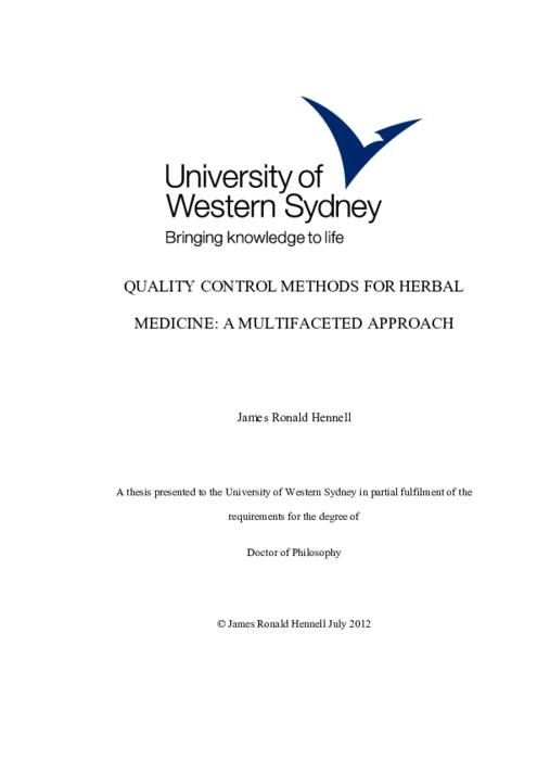 thesis about herbal medicine