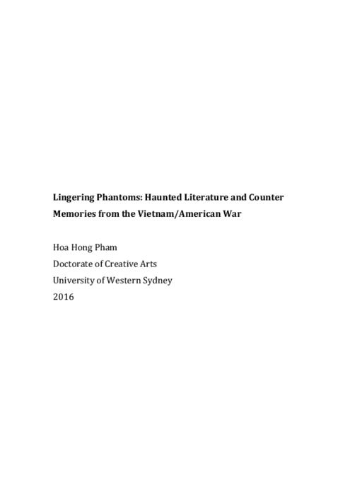 Lingering phantoms : haunted literature and counter memories from