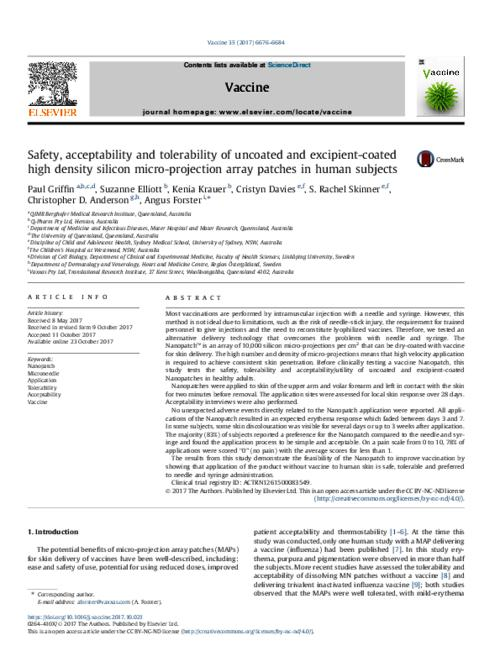 Safety, acceptability and tolerability of uncoated and