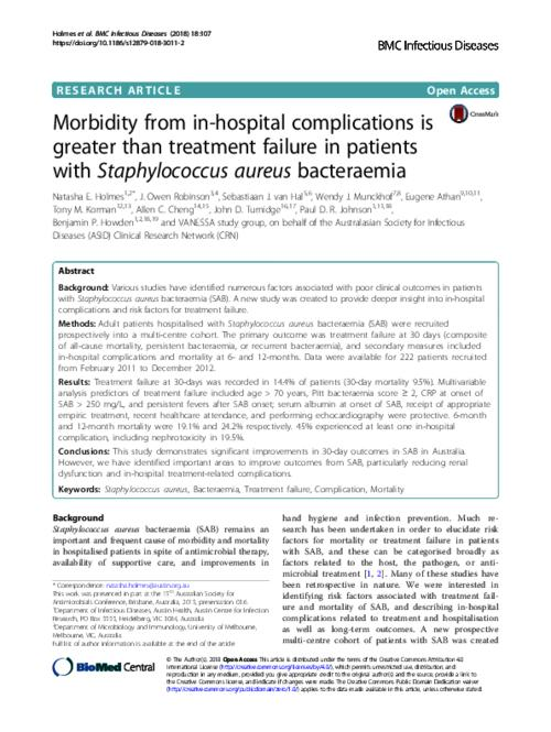 Morbidity from in-hospital complications is greater than treatment
