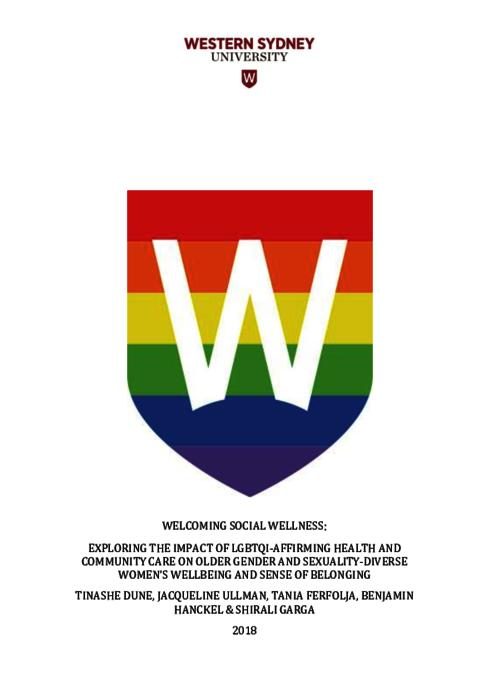 Welcoming Social Wellness: Exploring the Impact of LGBTIQ-Affirming
