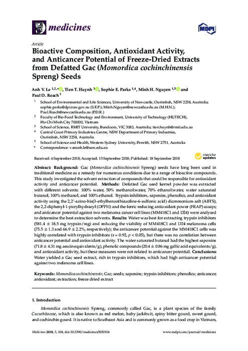 Bioactive composition, antioxidant activity, and anticancer