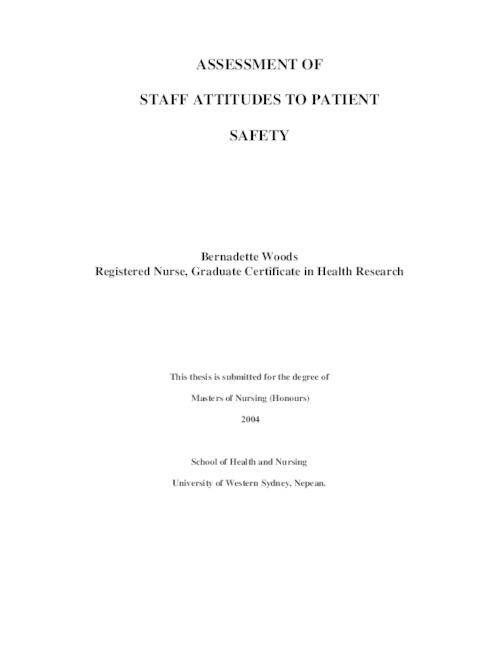 masters in patient safety