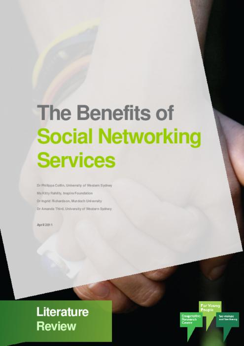 local literature about social networking Online social networking includes much more than facebook and twitter  most  national, state and local policies have not yet addressed social  studies are  needed to determine how social networking interactions fit within.
