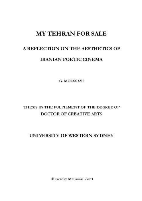Non Muslim Perspective On The Revolution Of Imam Hussain: My Tehran For Sale : A Reflection On The Aesthetics Of
