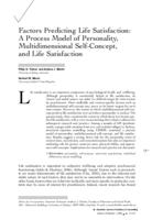 Factors predicting life satisfaction : a process model of personality, multidimensional self-concept, and life satisfaction