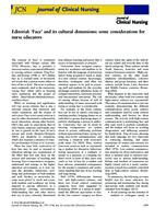 Editorial. 'Face' and its cultural dimensions : some considerations for nurse educators