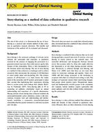 Story-sharing as a method of data collection in qualitative research