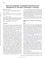 Role and complexity of integrated water-resources management for periurban landscapes in Australia