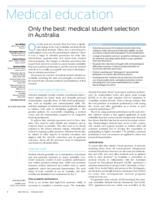 Only the best : medical student selection in Australia