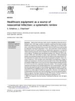 Healthcare equipment as a source of nosocomial infection : a systematic review