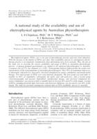 A national study of the availability and use of electrophysical agents by Australian physiotherapists