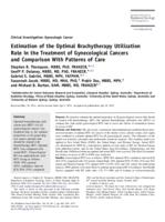 Estimation of the optimal brachytherapy utilization rate in the treatment of gynecological cancers and comparison with patterns of care