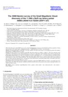 The XMM-Newton survey of the Small Magellanic Cloud : discovery of the 11.866s Be/X-ray binary pulsar XMMU J004814.0-732204 (SXP11.87)