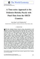 A time-series approach to the Feldstein-Horioka puzzle with panel data from the OECD countries