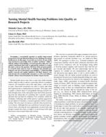 Turning mental health nursing problems into quality or research projects