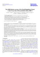 The XMM-Newton survey of the Small Magellanic Cloud : a new X-ray view of the symbiotic binary SMC 3