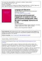 Connecting multiliteracies and engagement of students from low socio-economic backgrounds : using Bernstein's pedagogic discourse as a bridge