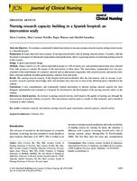 Nursing research capacity building in a Spanish hospital : an intervention study
