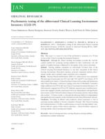 Psychometric testing of the abbreviated Clinical Learning Environment Inventory (CLEI-19)
