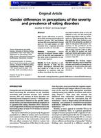 Gender differences in perceptions of the severity and prevalence of eating disorders