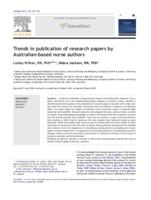 Trends in publication of research papers by Australian-based nurse authors