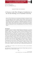 A presence in the West : religious contributions to the secular ideology of an Australian university