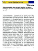 Editorial : meeting the health care needs associated with poverty,  homelessness and social exclusion : the need for an interprofessional  approach