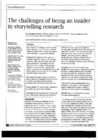 The challenges of being an insider in storytelling research