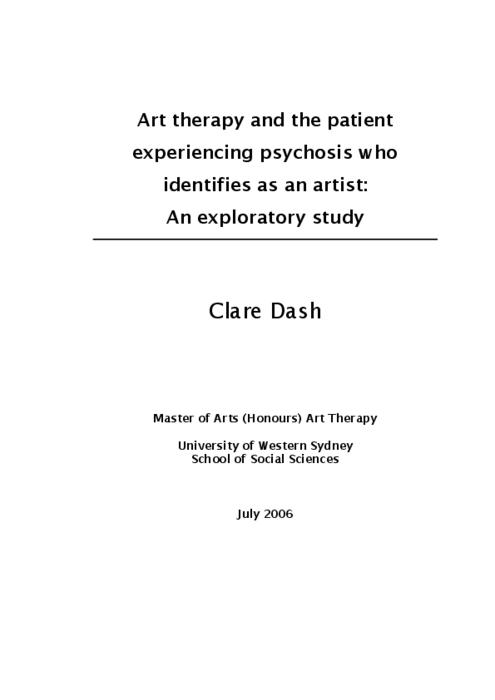 art therapy thesis abstract on countertransference 2018-1-21 laura read through endless revisions of my thesis,  abstract the efforts of therapists in the first  for therapy.