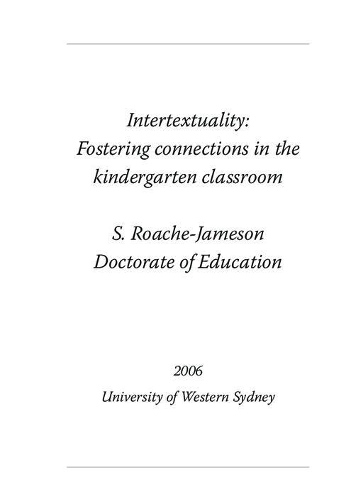 thesis on intertextuality