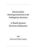 Intertextuality : fostering connections in the kindergarten classroom