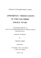Astrometric observations of wide southern double stars
