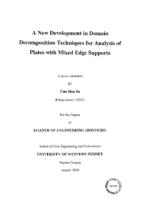 list of uws thesis