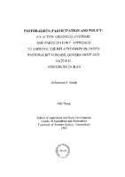Pastoralists, participation and policy : an action oriented, systemic and participatory approach to improve the relationships between pastoralist nomads, government and natural resources in Iran