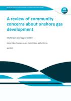 A Review of Community Concerns about Onshore Gas Development: Challenges and Opportunities