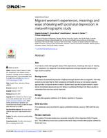Migrant women's experiences, meanings and ways of dealing with postnatal depression : a meta-ethnographic study