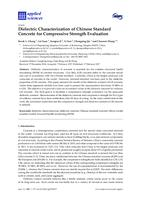 Dielectric characterization of Chinese standard concrete for compressive strength evaluation