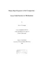 Whole plant response to soil compaction : from field practices to mechanisms