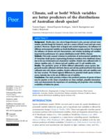 Climate, soil or both? : which variables are better predictors of the distributions of Australian shrub species?