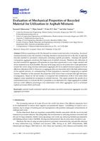 Evaluation of mechanical properties of recycled material for utilization in asphalt mixtures