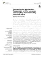 Uncovering the mechanisms responsible for why language learning may promote healthy cognitive aging
