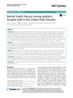 Mental health literacy among pediatric hospital staff in the United Arab Emirates