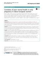 Correlates of poor mental health in early pregnancy in obese European women