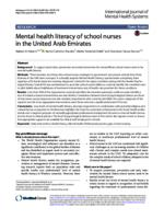 Mental health literacy of school nurses in the United Arab Emirates