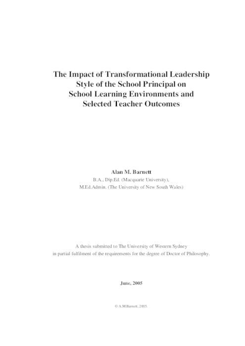 Leadership styles of middle school principals