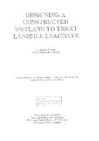 Designing a constructed wetland to treat landfill leachate