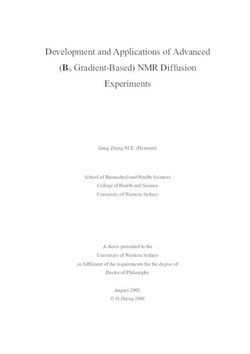 uws thesis collection