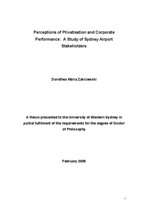 Phd thesis on privatization