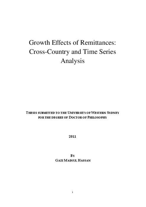 thesis and dissertation on time series aralysis